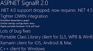 ASP.NET SignalR 2.0 必須使用 .NET Framwork 4.5