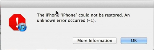 iTunes error -1 downgrade