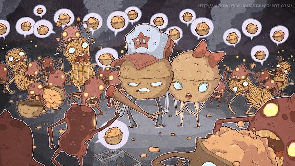Ilustração Evgeny Yakovlev Amendoins