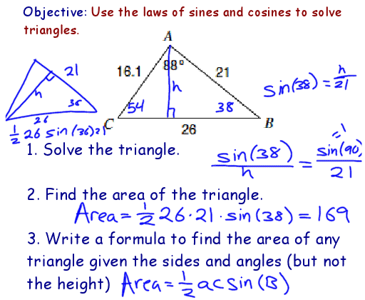 Drawing On Math Laws of Sines and Cosines – Law of Sine and Cosine Worksheet