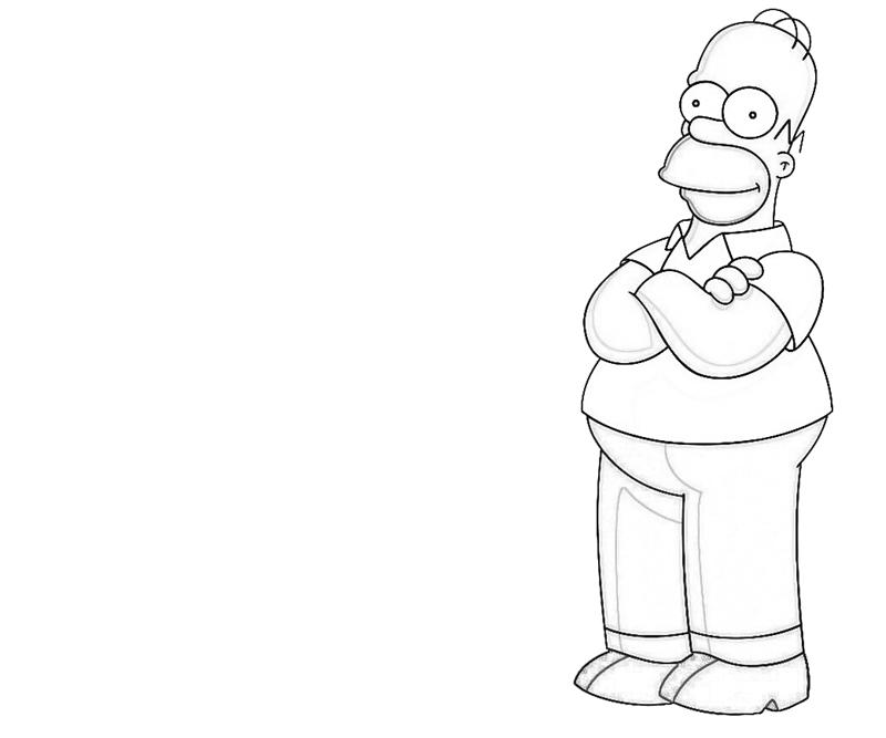 homer-simpson-character-coloring-pages