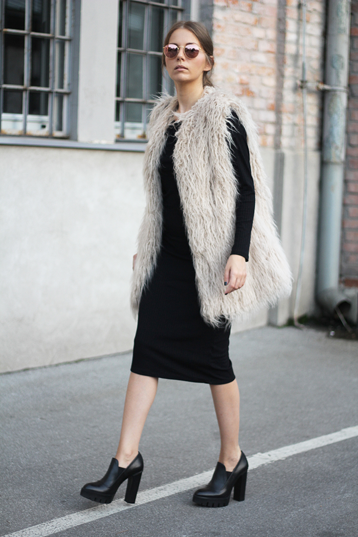 Fashion and style furry vest Fashion and style vanja