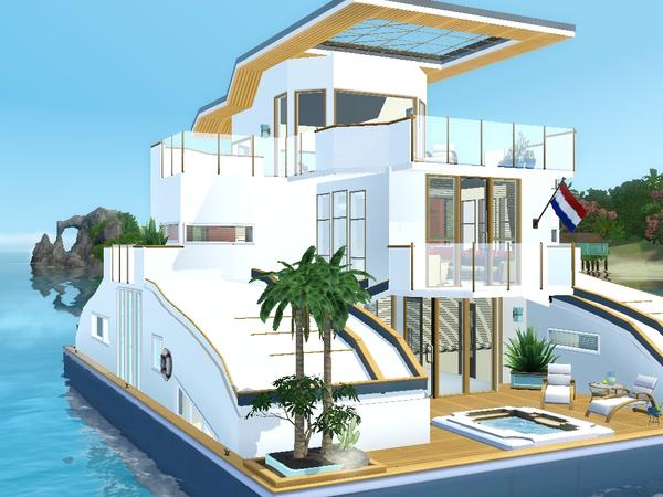 My Sims 3 Blog: Philo's Aloha Houseboat