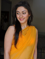 Cute, Manjari, Phadnis, In, Yellow, Saree