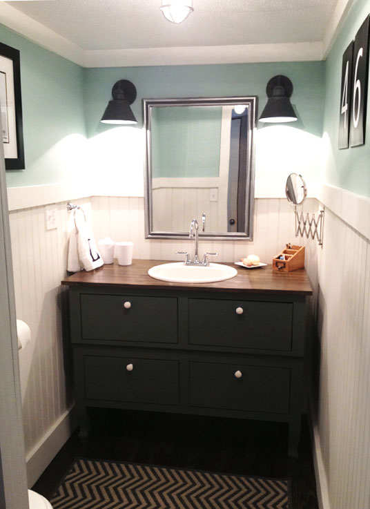 Bathroom Makeover Vanity bathroom makeover reveal - the shabby creek cottage