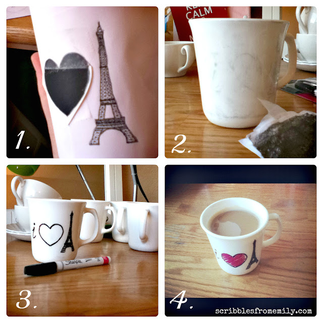 DIY Dishwasher Safe Sharpie Mugs