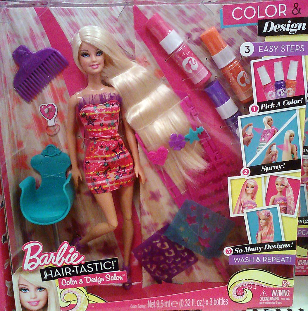 Barbie hair tastic color and design salon ta target nov 2012 for 3 fifty eight salon