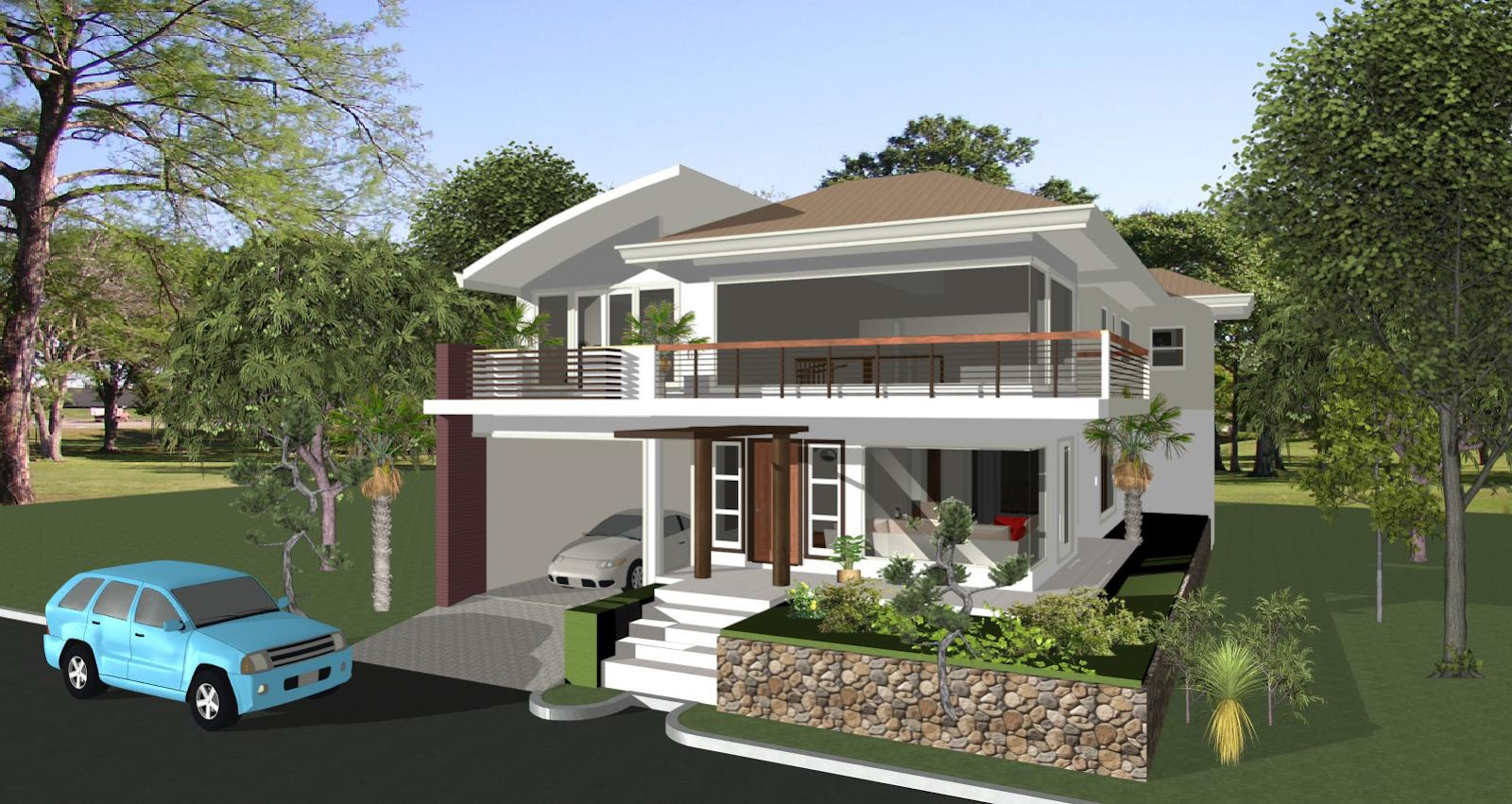House designs philippines architect bill house plans for Elevated modern house design