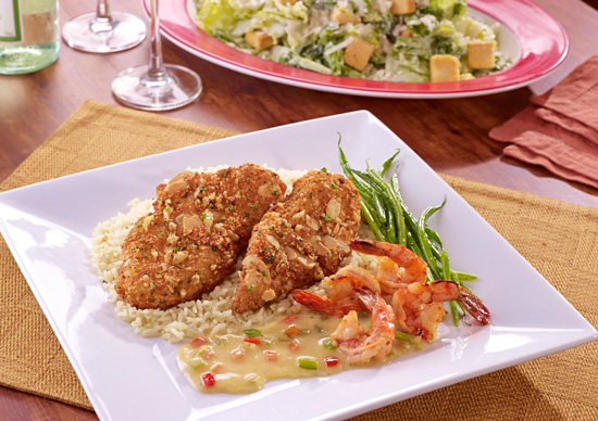 TGI Fridays, Taste of New York, Queens Almond Crusted Tilapia and Jalapeno Shrimps