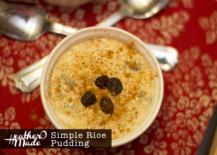 simple rice pudding recipe. snow day treat.