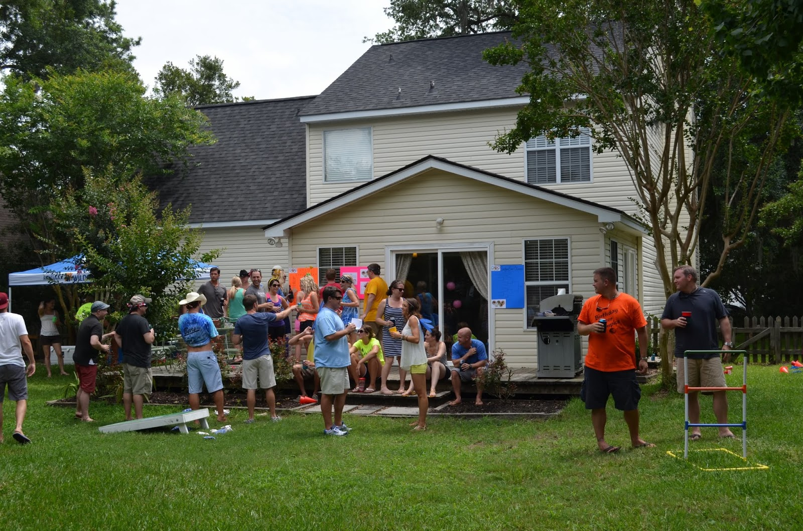 rph in blue heels 3rd annual backyard beer olympics