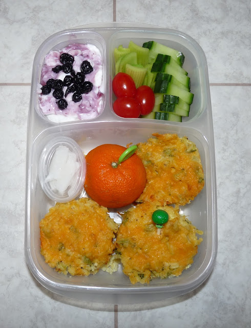 cheesy broccoli rice cups lunch