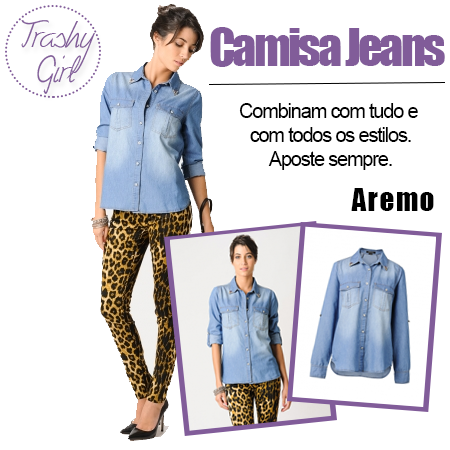 Camisa Jeans - Aremo