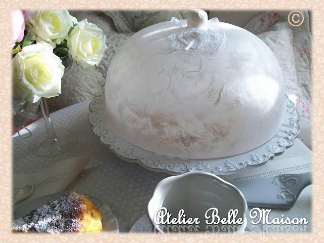 Belle maison: copritorta con carta di riso