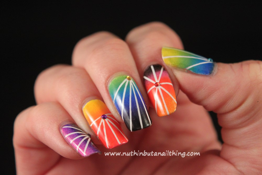 Rainbow striping tape gradient