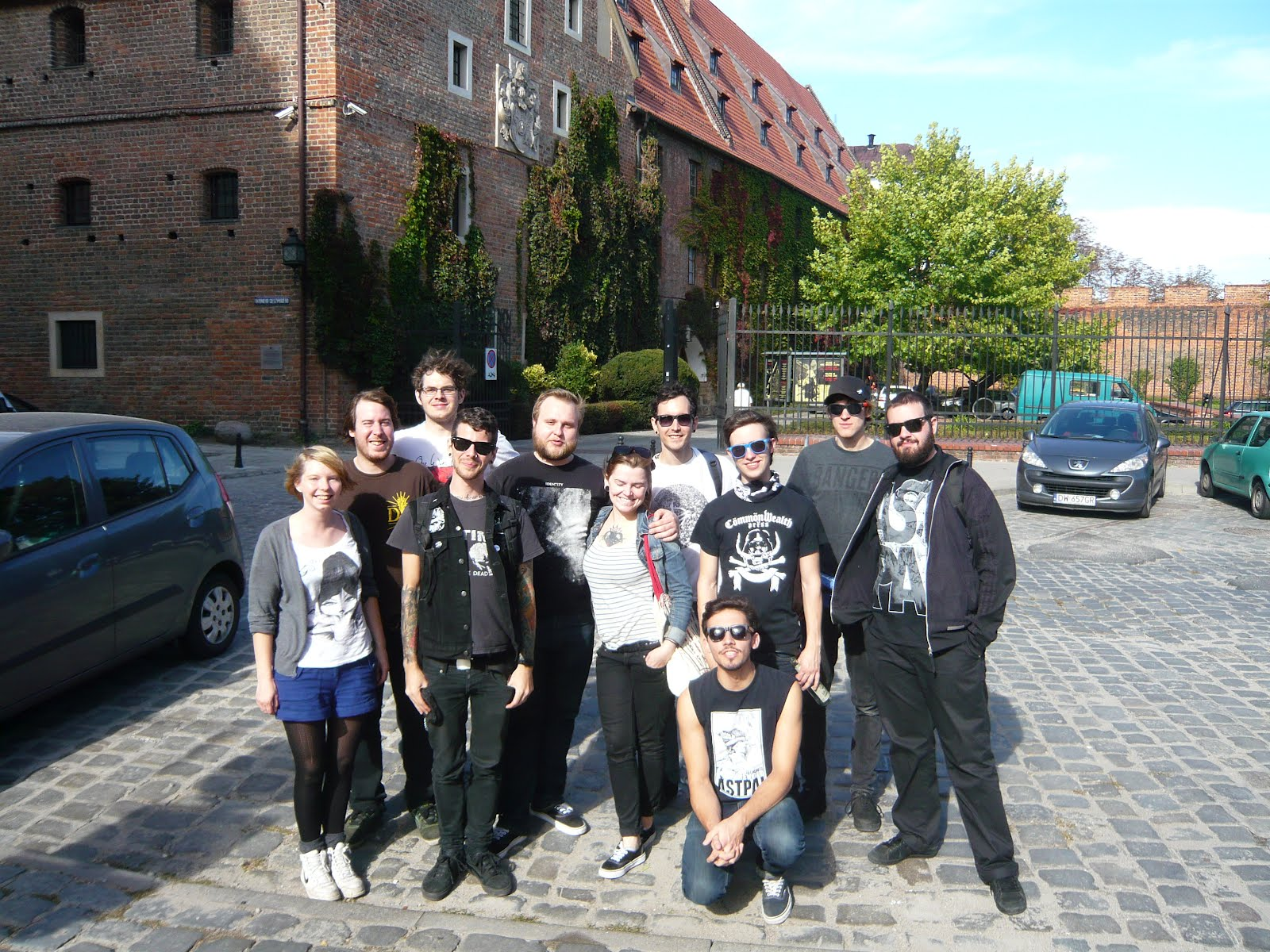 Astpai/ Despite Everything plus our promoters/ hosts for that night in Wroclaw, Poland.