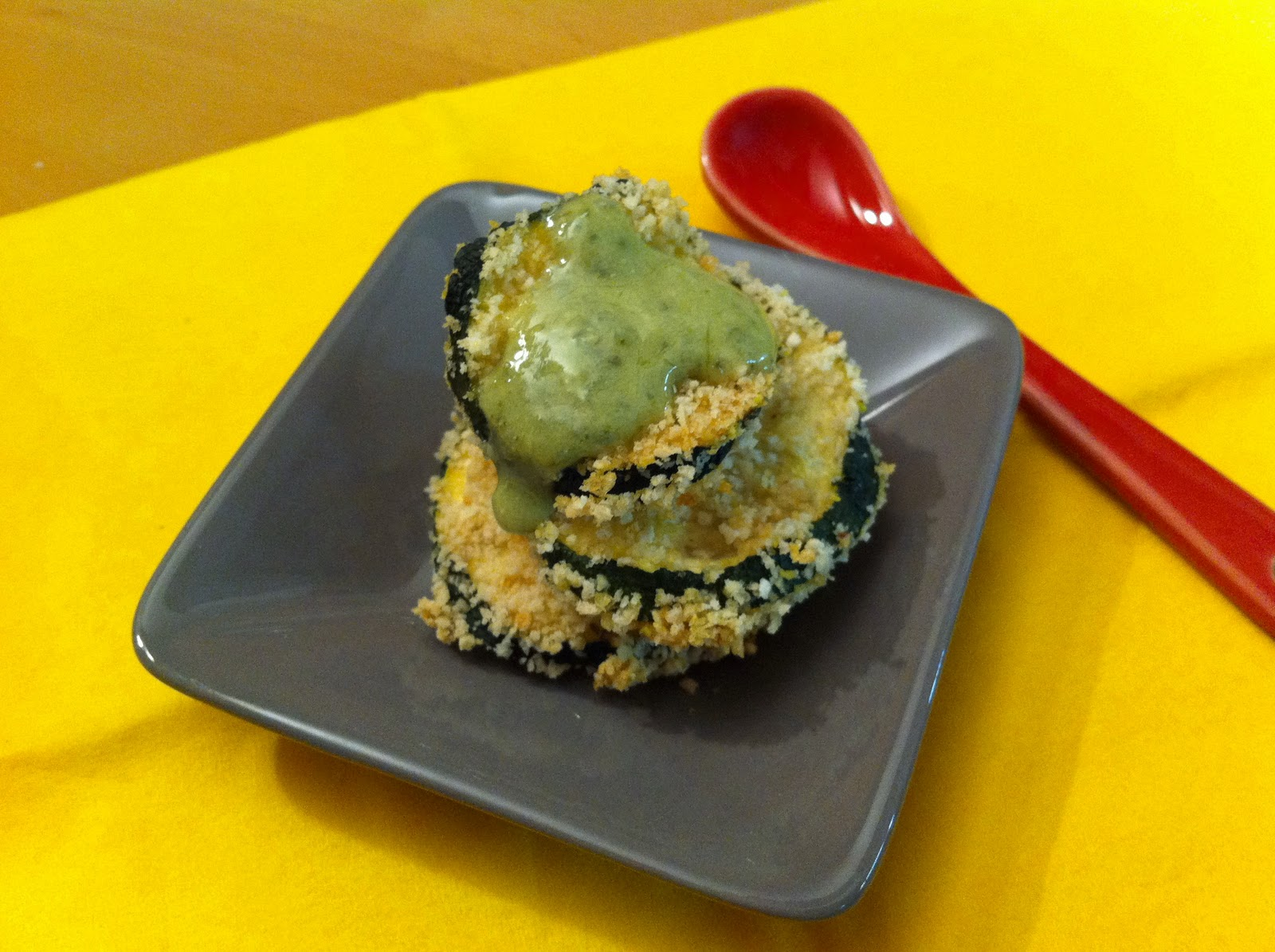 The Wandering Cook: Oven-fried zucchini chips with basil dipping sauce