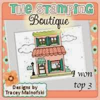 Yay! Made it to TOP 3 at The Stamping Boutique #70