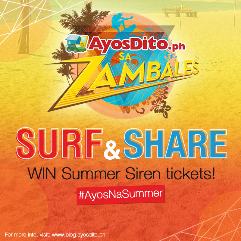 Surf and Share Win Summer Siren Tickets