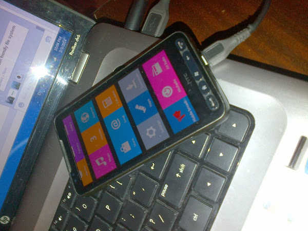 HTC HD2 running Nokia X platform