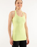 lululemon cool racerback yoga tank in wild lime