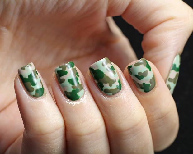 copycat claws camo nail art &