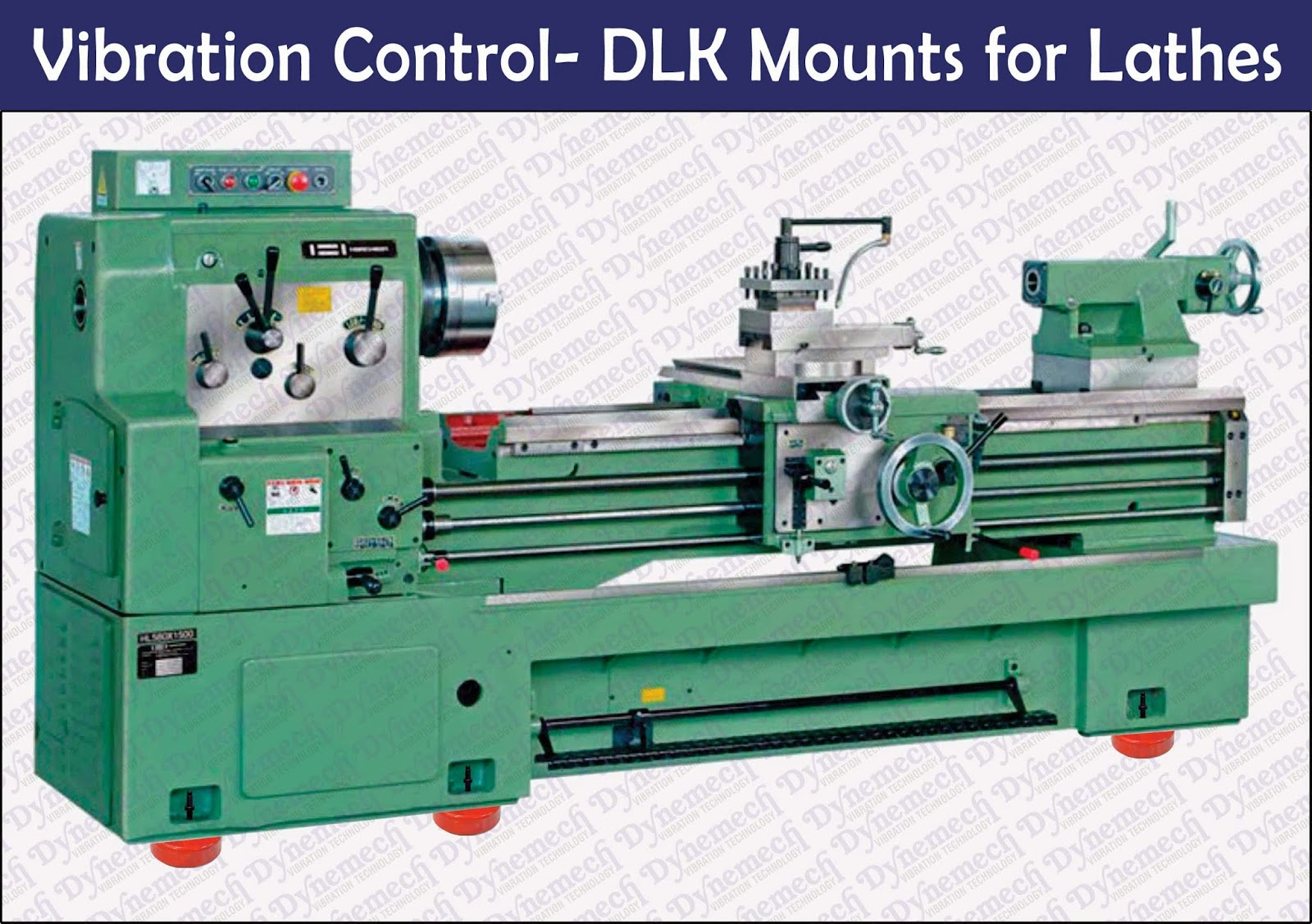 Machine Leveling Mounts : Dynemech systems vibration control lathe