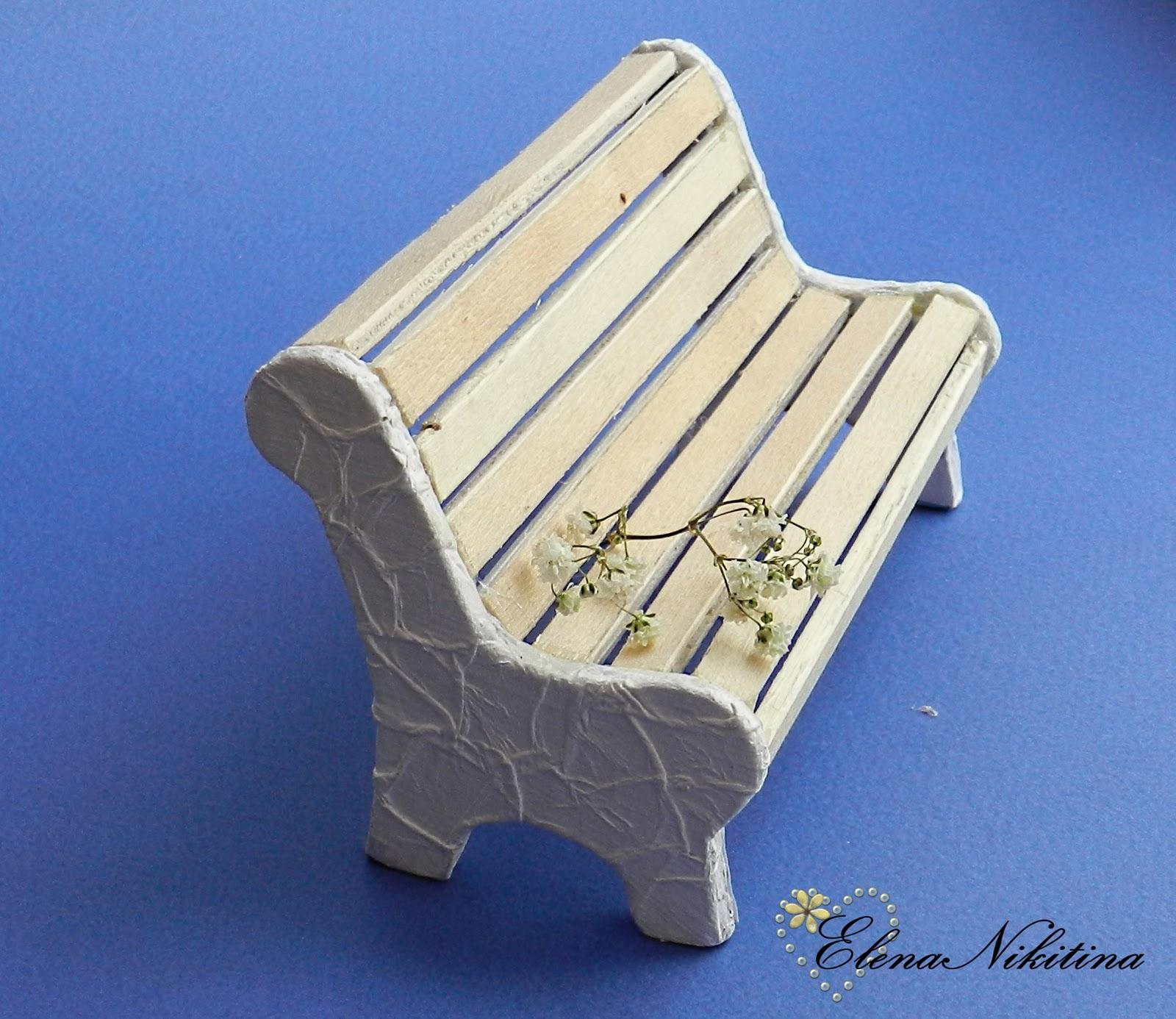 Как сделать скамейку из палочек от мороженого своими руками