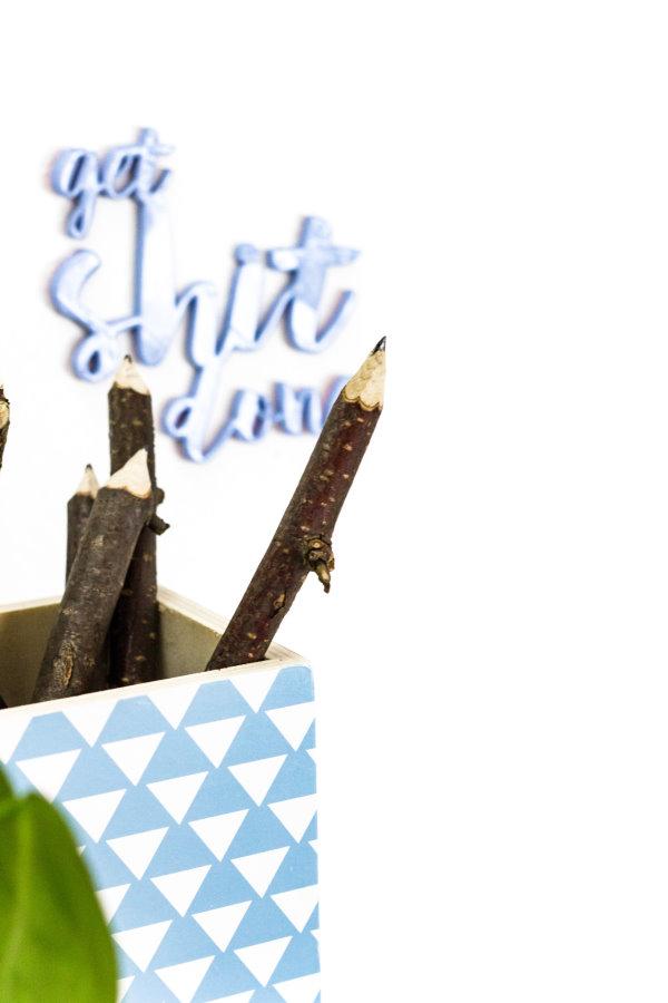 DIY Bleistift aus Holz-Zweigen