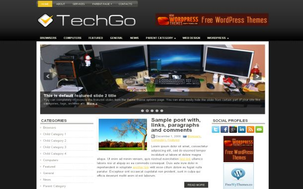 Technology Black Jquery Free Wordpress Theme