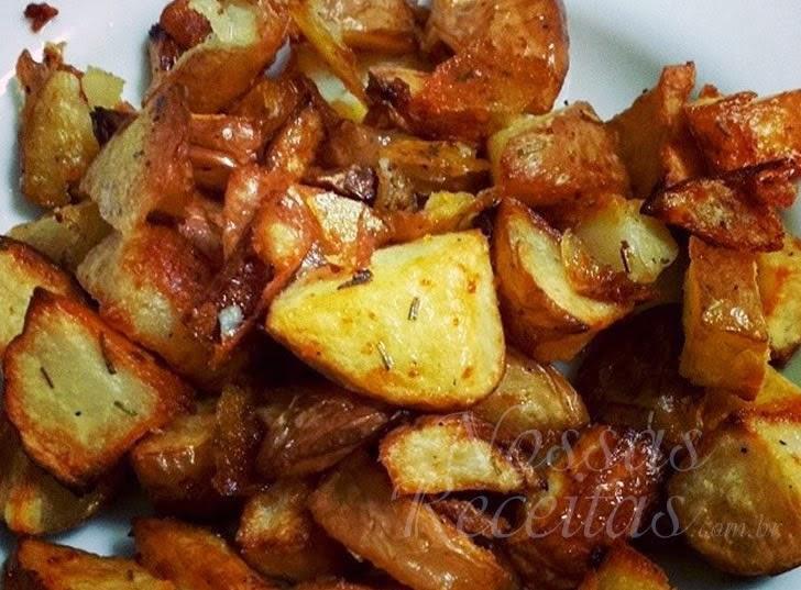 Receita de batata assada com ervas