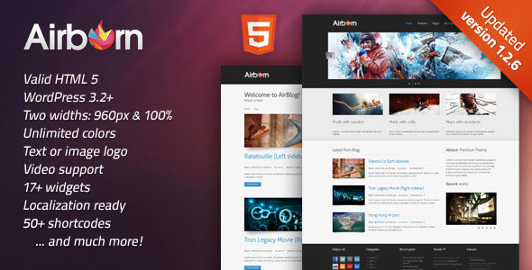 Image for Airborn – Portfolio / Business Theme by ThemeForest