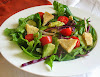 Mixed Vegetable and Avocado Salad with Almond Herbed Flatbreads