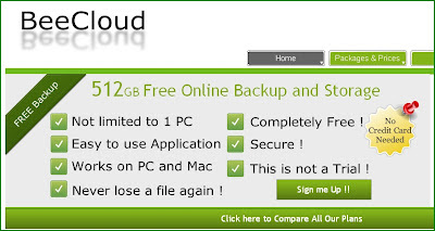 Get 512 GB Online Cloud Storage Free From BeeCloud