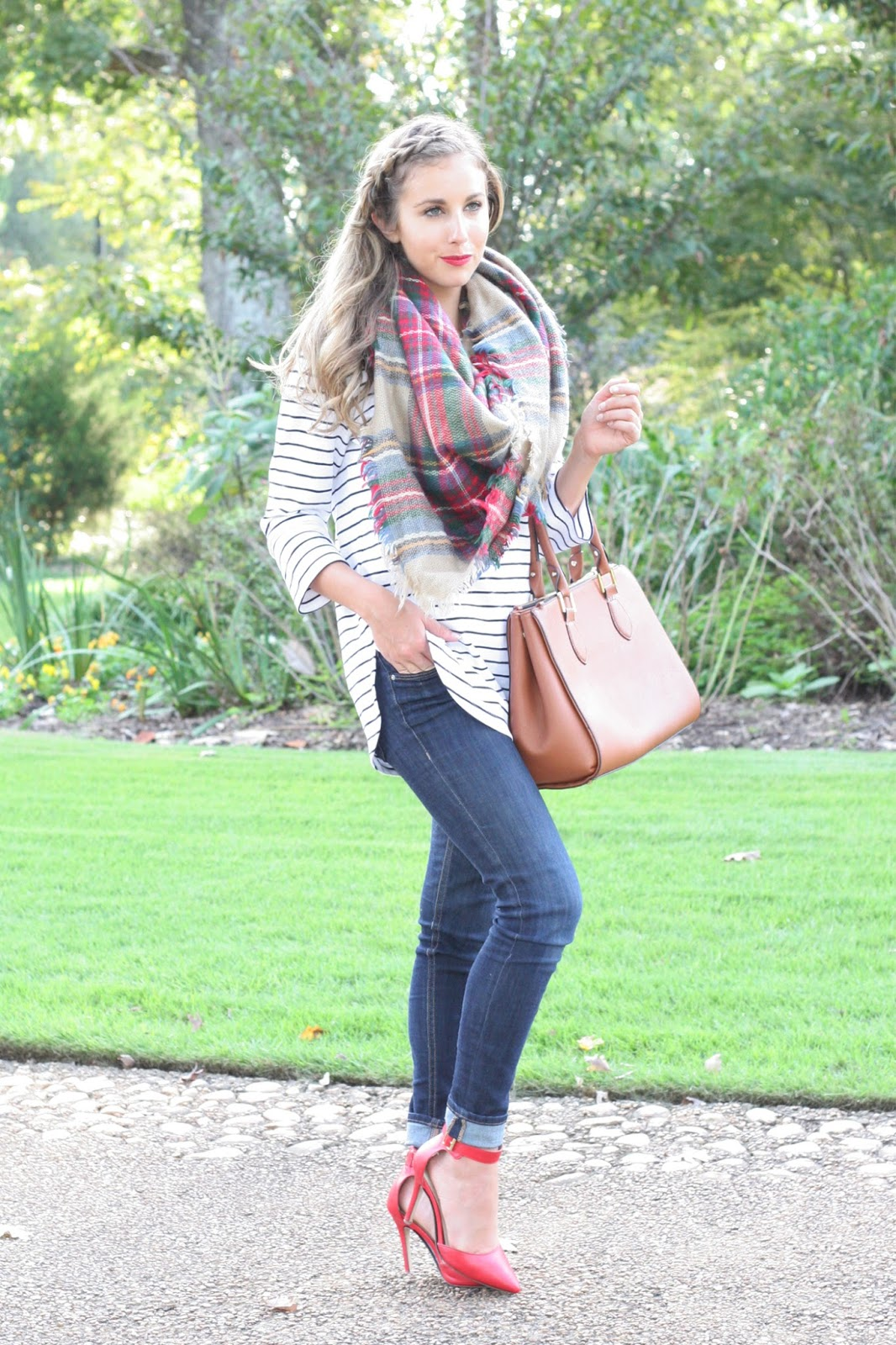 Tartan-plaid-blanket-scarf - The-perfect-fall-accessory!