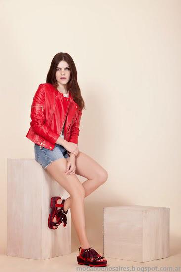 Prüne primavera verano 2014. Moda Carteras, zapatos, sandalias y camperas 2014.