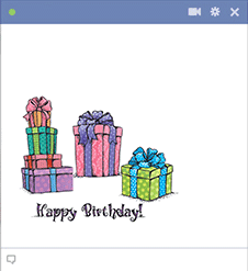 Birthday Gift Boxes Facebook Sticker