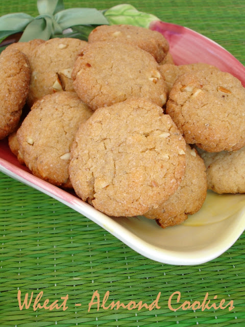 Veggie Platter: Whole Wheat - Almond Cookies