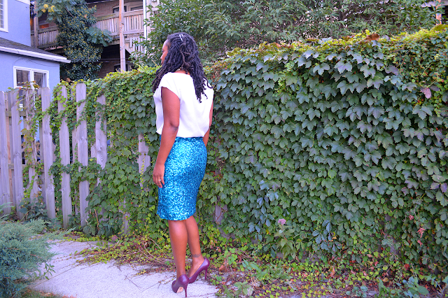 easy to tutorial to make a sequin skirt
