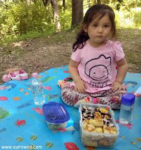 Sonia en el picnic del monte Ansan