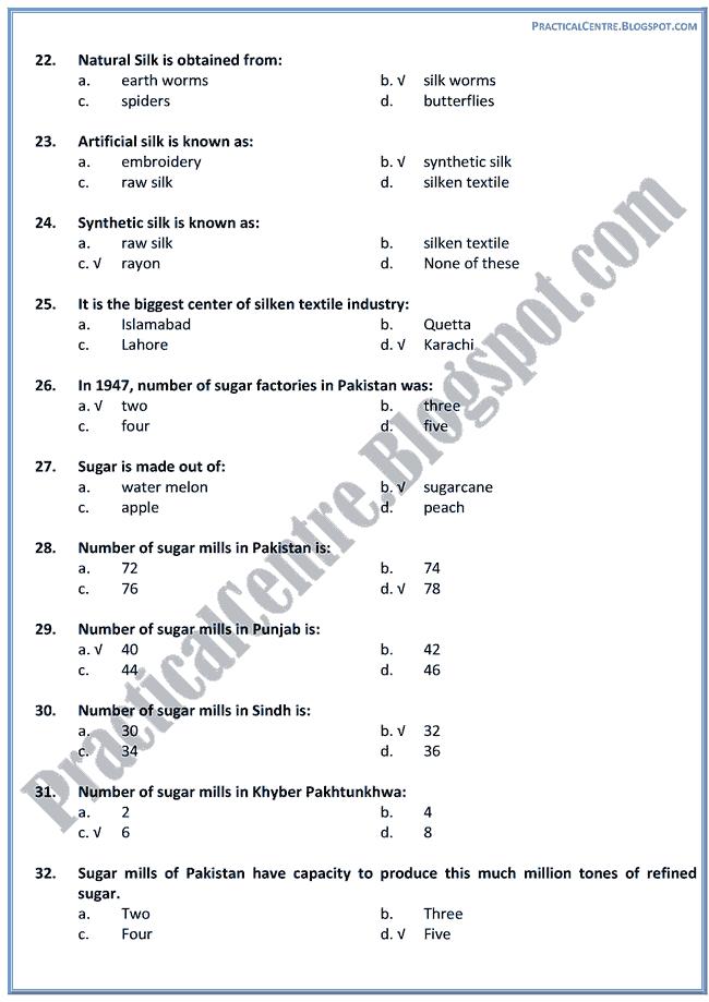 industrial-development-in-pakistan-mcqs-pakistan-studies-9th