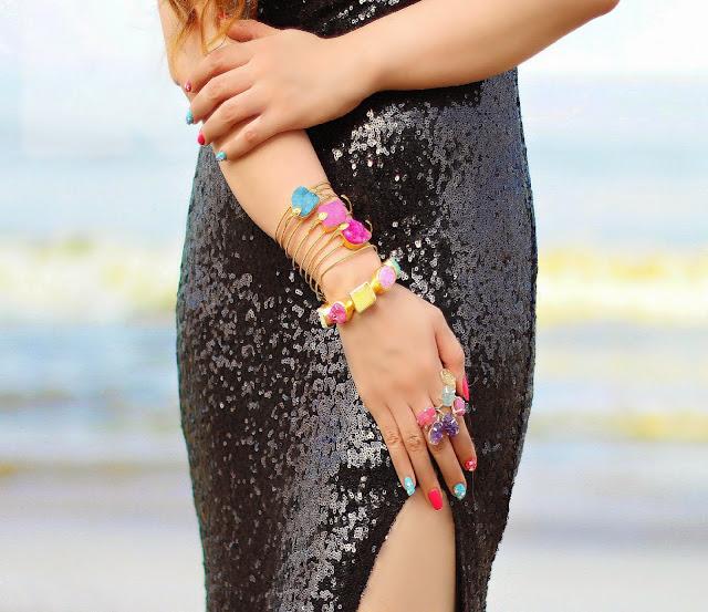 Semi-Precious Jewelry, Silvette, Stone Rings, colored stone cuff bracelets