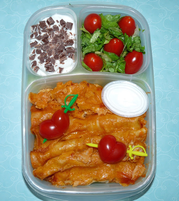 Enchiladas in our #Easylunchboxes
