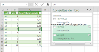 Vincular o combinar consultas con Power Query.