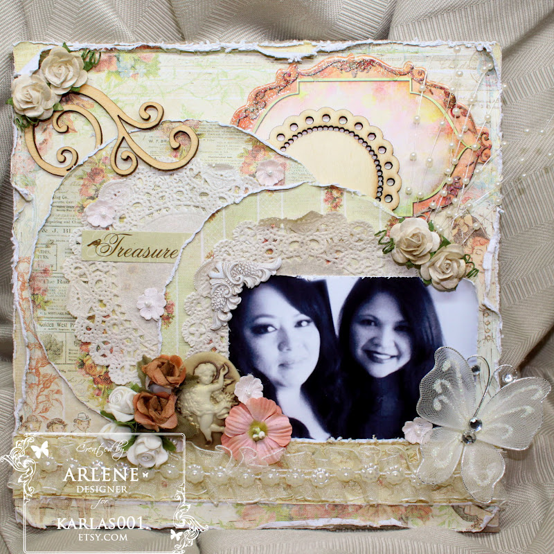 Treasure Friend 8x8 Scrapbook Lay Out