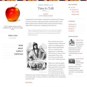 Time 2 Talk blogger template. simple and minimalist blogger template