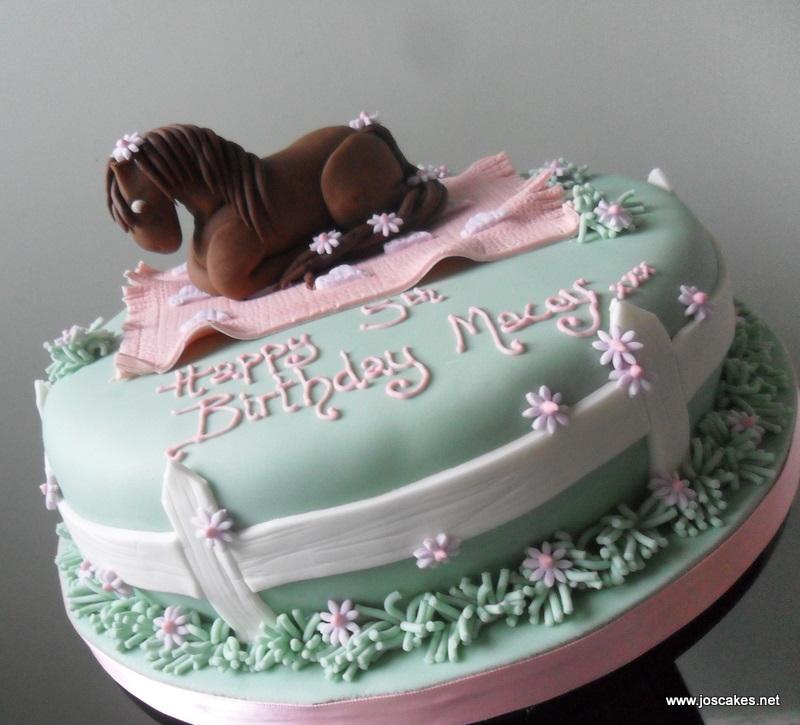 Jos Cakes Horsepony Themed Birthday Cake