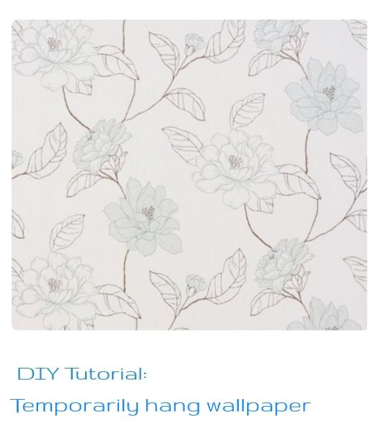 http://magnoliasoulangeana.blogspot.co.uk/2013/04/diy-temporary-hang-wallpaper.html