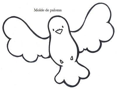 Modelo de palomas.Dibujos de palomas.   RECREAR - MANUALIDADES - ARTE