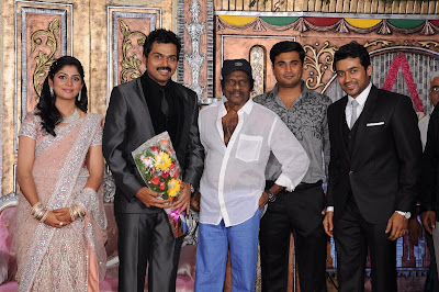 karthi reception with Goundamani